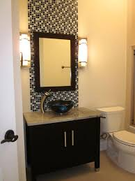 bathroom vanity mirror wall accent feature mosaic tiles bathroom