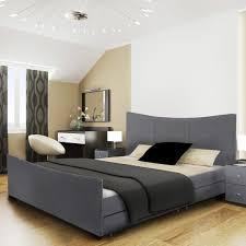 Santiago Bed Frame Santiago 4 Drawers Fabric Storage Sleigh Bed