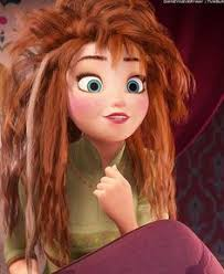 anna from frozen hairstyle let s play game frozen anna messy hair pinterest
