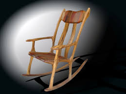 White Rocking Chair Outdoor by Hand Crafted Exotic Rocking Chairs By Bearkat Wood Custommade Com