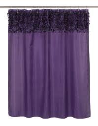 Shower Curtains Purple Carnation Home Fashions Inc Jasmine Fabric Shower Curtains