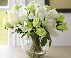 Artificial Lilies In Vase Lily And Rose Centrepiece Bloom Artificial Flowers