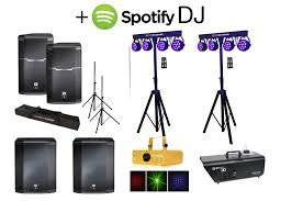 Party Speakers With Lights Spotify Dj Party Speakers Lights Packages From 500