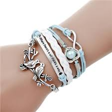 fashion charm leather bracelet images Multilayer charm leather bracelet women menfashion jpg