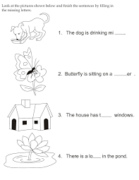 printable missing letters quiz complete the sentences by filling in the missing letters ก อนว ย