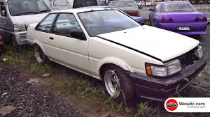 nissan skyline for sale in jamaica a bunch of abandoned ae86s corolla levin sprinter trueno