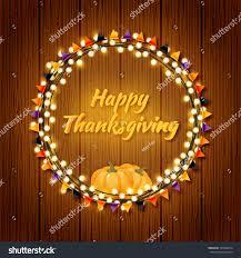 happy thanksgiving day vector frame stock vector 725968414