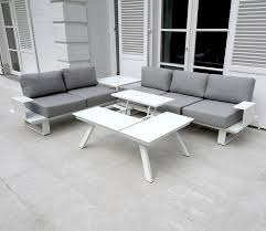 canape jardin aluminium salon de jardin aluminium blanc salon de jardin bas prix maison