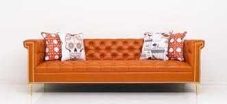 Orange Sofa Throw Www Roomservicestore Com Sinatra Sofa In Hermes Orange Faux Leather