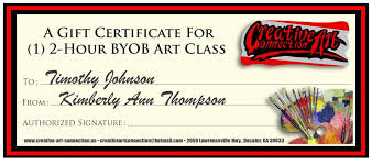 buy a gift certificate for a friend byob art class in decatur