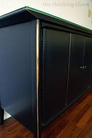black distressed buffet makeover u2014 the thinking closet