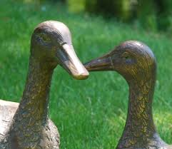 pair of ducks metal garden ornaments gardensite co uk