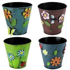 Large Planter Pot by Garden Font B Decor Planter Metal Pot Vase Kids Home Surripui Net