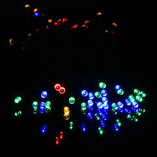 Solar White Christmas Lights by Blue White Warm White Multicolor 12m 100 Led Solar Lights String
