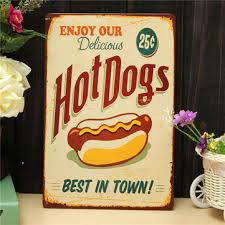 Cafe Home Decor Dogs Sheet Metal Drawing Retro Metal Painting Pub Club Cafe