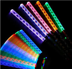 led light up toys wholesale colorful changing flash torch led magic wand party concert glow