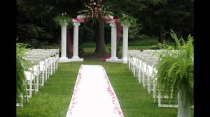 outdoor wedding ceremony decoration ideas on a budget youtube