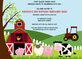 Invitations Cards For Birthday Parties Farm Birthday Party Invitations Theruntime Com