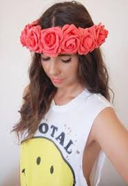 big flower headbands coachella coral pink crown pink flower crown festival