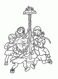 funny spring for kids coloring page for kids seasons coloring