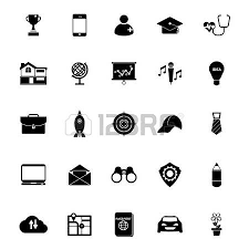 Resume Icons Free Job Resume Icons On White Background Royalty Free Cliparts
