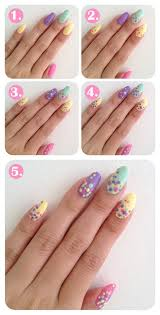 easy polka dots nail art step by step tutorial for beginners