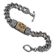 cross bracelet jewelry images Chain cross bracelet b347 silver gold black enamel culturetaste jpg