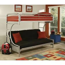 eclipse twin xl over futon metal bunk bed silver walmart com