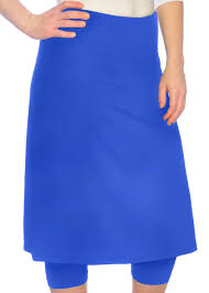 royal blue running swim skirt with royal blue leggings modli