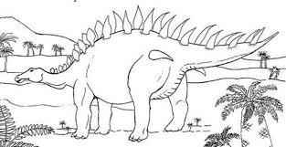 stegosaurus palme trees coloring pages hellokids