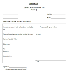 credit note template 19 free word pdf documents download
