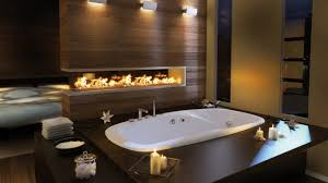 chic japanese bathroom design ideas with luminous trough bathtub