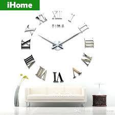 Home Decor Dropship Wall Clock Diy Mute Large Wall Clock 3d Mirror Sticker Metal Big