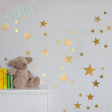aliexpress com buy gold stars wall decal vinyl stickers golden