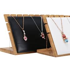 necklace pendant display images New fashion bamboo wood chain jewelry display holder pendant jpg