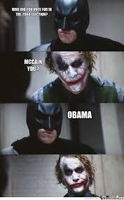 I Voted Meme - batman voted for obama by dms meme center