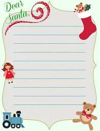 dear santa letter templates christmas pinterest santa letter