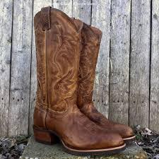 tony lama men u0027s distressed in weathered tan leather median western