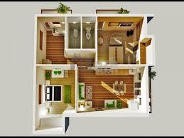 3d floor plan of a bedroom apartment in kuwait kw outsource arafen