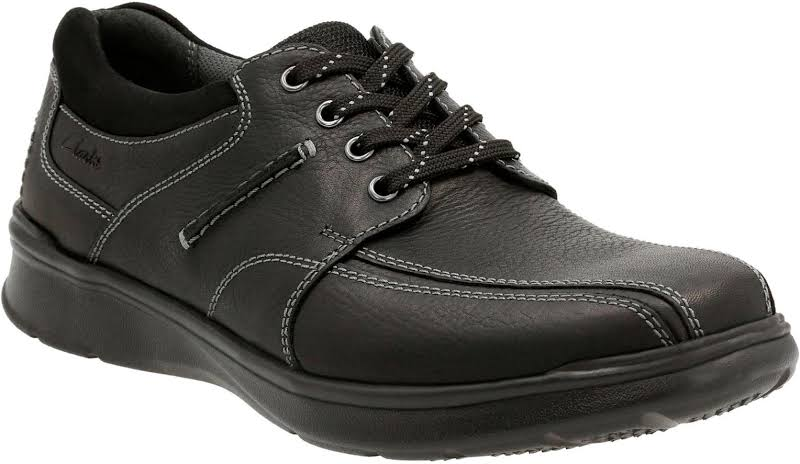 Clarks Cotrell Walk 26119725 Black Leather Casual Lace Up Oxfords Shoes