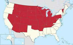Us East Coast Map List Of Landlocked U S States Wikipedia