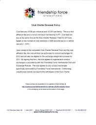 club charter renewal example