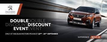 peugeot used car event peugeot double discount event macklin motors