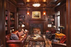 home library decor traditional house interior design homes abc