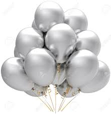 silver balloons party silver balloons modern white birthday anniversary