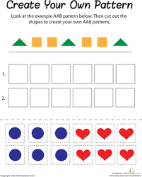 aab pattern worksheet education com