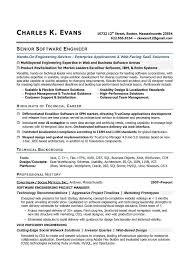 software engineer resume senior software engineer sle resume highlights of technical