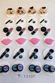 makeup cake toppers make up cupcakes toppers projects makeup cupcakes