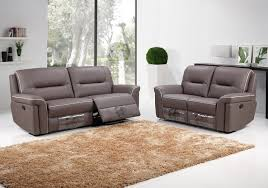 Contemporary Recliners Furniture Cozy Beige Shag Area Rugs And Gray Leather Modern