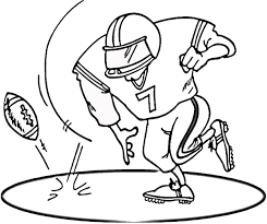 Football Coloring Pages Printable Murderthestout Football Coloring Page